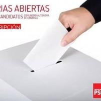 cartel primarias PSOE