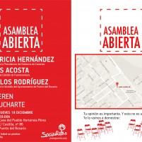 El PSOE organiza una asamblea abierta a la ciudadanía