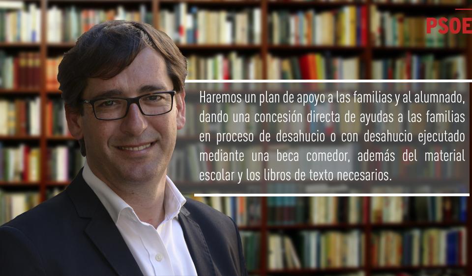 Iñaki Lavandera defiende una educación pública, de calidad y totalmente gratuita