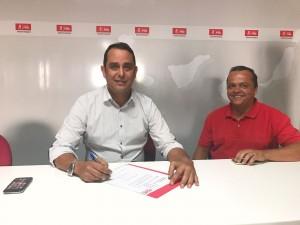 Blas Acosta presenta su precandidatura a la Sria General del PSOE Fuerteventura